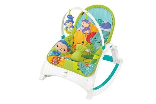 Fisher-Price DMR88 Rainforest Friends Infant-to-Toddler Rocker, New-Born Baby Bouncer and Can be Used as a Baby Chair, Suitable from Birth Mattel 887961286519
