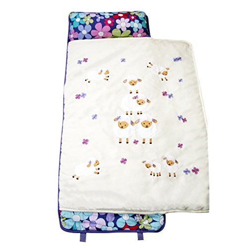 - SoHo Lavender Wolly nap mat for toddler preschool day care with pillow lightweight rolled nap mats