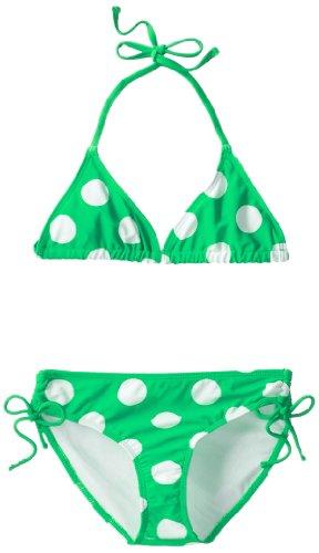 Kanu Surf Big Girls'  Beachball Bikini Swimsuit, Green, 14