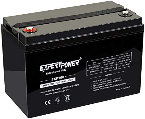 ExpertPower 100Ah Solar Sealed Battery product image