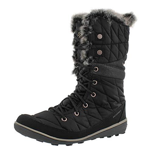 Columbia Women's Heavenly Omni-Heat Snow Boot, Black, Kettle, 9 Regular US (Boots Waterproof Womens Columbia)