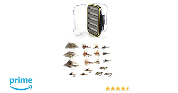 Fly fishing box waterproof clear view fly box double face-fly fishing tackle