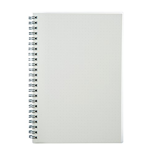 Heyner Spiral Banded Notebook Diary Handwriting and sketch A5(8.27×5.82inches)Dotted