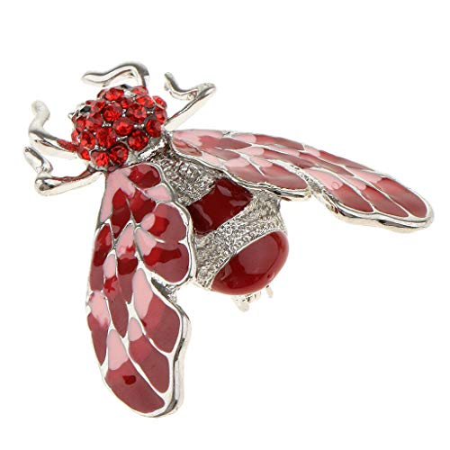 (Fancy Enamel Bee Brooch Fly Insect Brooch Pins Scarf Dress Lapel Pin Jewelry (Color -)