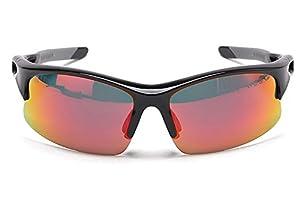 Polarized Sports Sunglasses for Men Womens Cycling Golf Baseball Glasses