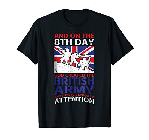 - Great British Army T-Shirt - On The 8th Day God Created