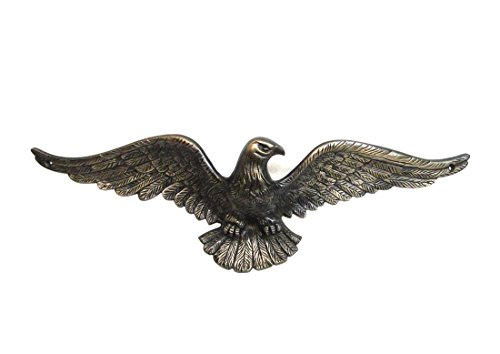 (The King's Bay Solid Brass Eagle Sculpture Bronze Finish Above Door Home American)