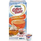 Nestle 75520 Liquid Coffee Creamer, Pumpkin Spice, 3/8 Oz (11ml) Mini Cups, 50/box