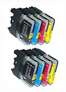 UCI BI lc985 [ 10 tinta = 2 x Set + 2 x Black ] Compatible tinta cartuchos reemplazo For Brother DCP - J125, Brother DCP - J315W, Brother DCP - J515W, Brother MFC - J265W, Brother MFC - J410, Brother MFC - J415W, impresora, Brother lc985, lc985BK, lc985C, lc985M, lc985Y,