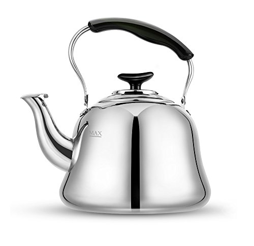 Tea Kettle Stovetop Kettles Teapot Stainless Steel-Mirror Finsh,Bakelite Handle,Fast To Boil, 2 Quart