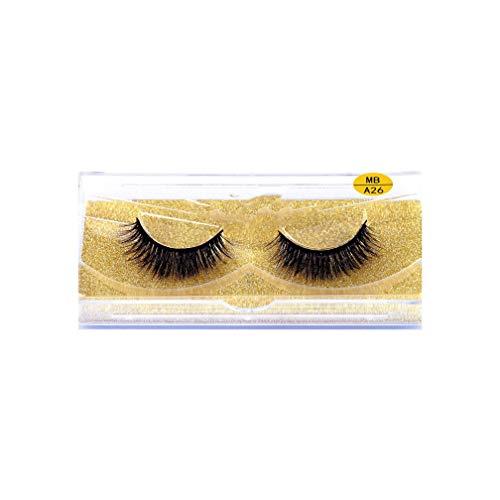 100% Mink lashes Hair 3D False Eyelashes Natural Thick Long Fake Eye Lashes Wispy Makeup Beauty Extension Tools A01-40,MB-A26