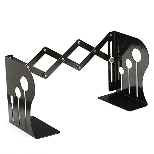 Bookends Caveen Office Book End Metal Heavy Adjustable Books Holder Stand Desk Heavy Duty ( 6.8inch -14.76inch ) by Caveen