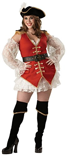 Pirate Mascot Costume (UHC Women's Treasure Pirate Outfit Fancy Dress Halloween Plus Size Costume, 2XL (20-22))