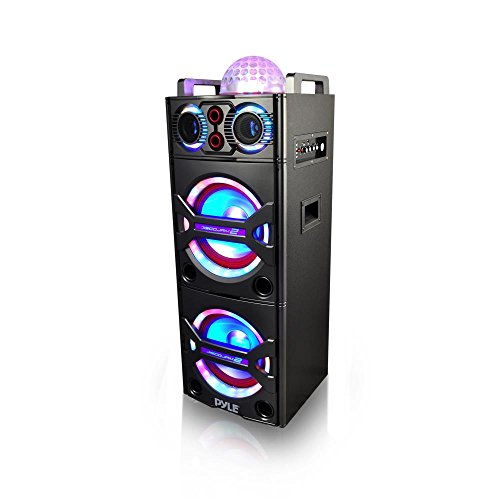 Pyle PSUFM1043BT Bluetooth PA Loudspeaker Karaoke Entertainment System, Wireless Mic (Microphone Tweeter Pyle)