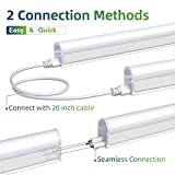 Freelicht 10 Pack LED T5 Integrated Single Fixture, 4FT 22W 2200LM 6000K Led Tube Light, Linkable Led Shop Light for Garage, Corded Electric with Built-in ON/Off Switch