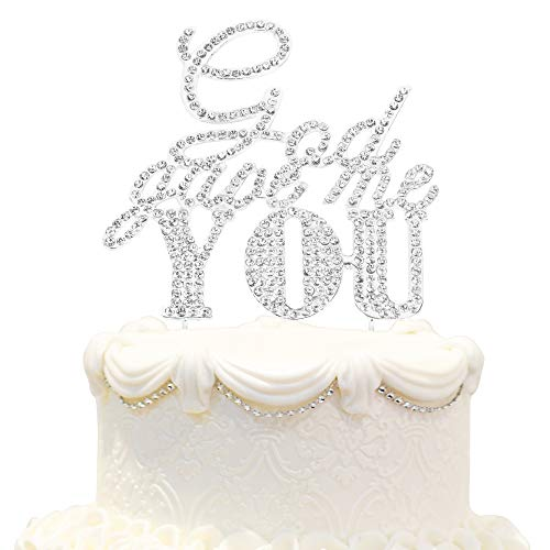 God Gave Me You Sparkle Rhinestone Cake Topper Celebrate Wedding Anniversary Party Decoration - Silver. ()