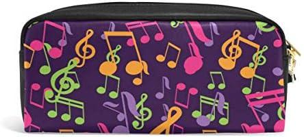 Estuche para lápices de notas musicales para niñas y niños, bolsillo con cremallera, rectangular, grande, bolsa de papelería, maquillaje, bolsa de gran capacidad, impermeable para mujeres: Amazon.es: Oficina y papelería