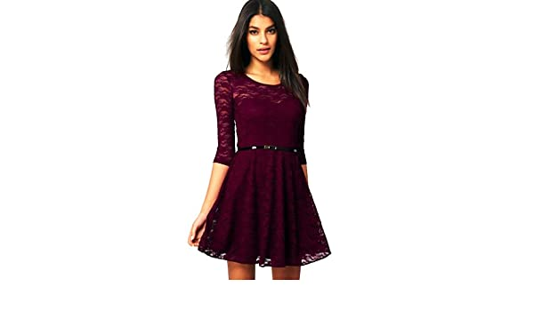 ededd6c36 Amazon.com  Dear-lover Women s Fashion Lace Mini Dress 245