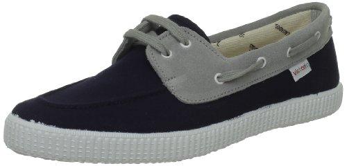 Calego - Zapatos de cordones de tela unisex Azul (Bleu (Marino))