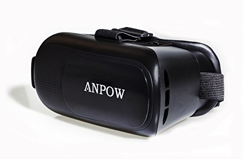 Anpow 3D VR Glasses,VR Headset,Virtual Reality Headset with Ajustable Lens for iPhone 5 5s 6 plus Android Samsung S3 Edge Note 4 and 3.5-5.5 Inch Smartphone for 3D Movies