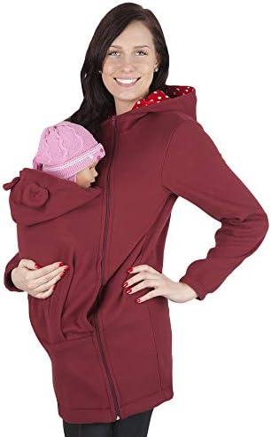 Y&L Cuidado Canguro Mamá Algodón Capucha Chaqueta Bebé Portador Bolsa Mujer Abrigo Multifuncional No Desmontable (Color : Red, Size : S): Amazon.es: Hogar