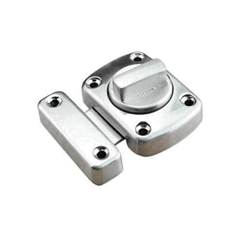 Door Gate Garage Lock Dead Bolt Heavy Duty Shed Turn Bolt Sliding Latch – Silver Size L, S