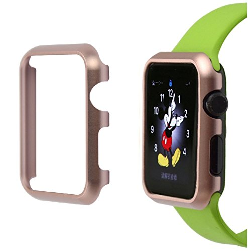 Josi Minea iWatch 4 [ 40mm ] Aluminum Protective Shell Bumper Cover Case - Shockproof & Anti-Scratch Shield Guard Compatible with Apple Watch Series 4 [ 40mm - Rose Gold ]