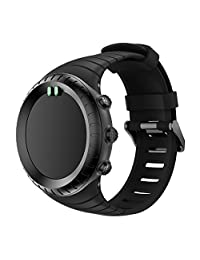 For Suunto Core, Kingfansion Replacement Sports Silicone Bracelet Strap Band (Black)