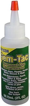 Gem-Tac 59 ml, Pegamento glutinoso para Gemas, Botella Media, Transparente al secarse