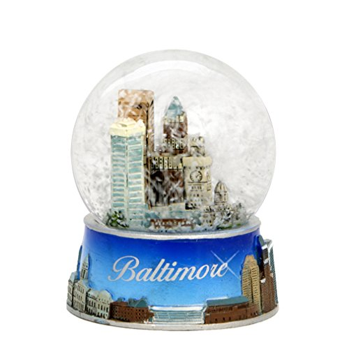 Baltimore Snow Globe from Maryland. Souvenir Snow Globe of Baltimore Skyline. 3.5'' (65mm) snow globes by Unknown (Image #1)