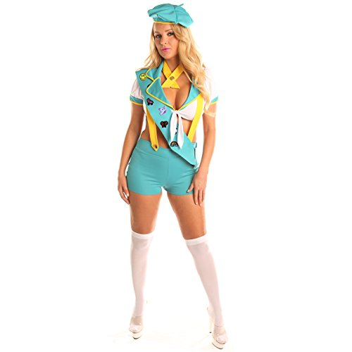 Best Girl Halloween Costumes 2019 (Disiao Sexy Scout Role Play Costume Set Halloween Suits Cosplay for Teen Girl Woman (M,)