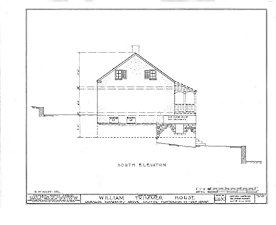 historic pictoric Blueprint Diagram HABS NJ,10-Calif.V,1- (Sheet 5 of 11) - William Trimmer House, Califon, Hunterdon County, NJ