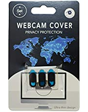 AWINNER Laptop Camera Cover Slide Webcam Cover Slider Stickers For Computer Macbook Pro Air Iphone Tablets Pc Ipad Imac Cell Phone Echo Show Privacy Blocker Sliding Shield Anti Spy One Size Black