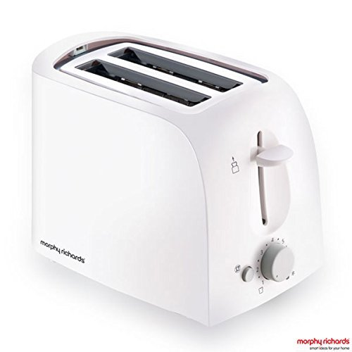 Morphy Richards AT-201 2-Slice 650-Watt Pop-Up Toaster (White)