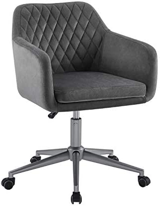 Linon Grey Quilted Brooklyn Office Chair