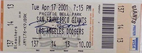 Barry Bonds Giants Signed Autographed 500Th Home Run Game Ticket 2001 Bonds Holo Certified Certified