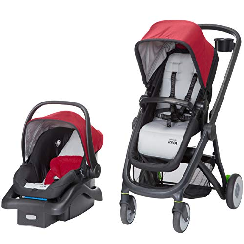 - Safety 1st Riva 6 in 1 Flex Modular Travel System with Onboard 35 FLX Infant Car Seat and Base, Red Rocks