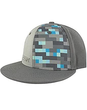 Minecraft Diamond Boys/Youth Snapback Cap (M-L) Grey