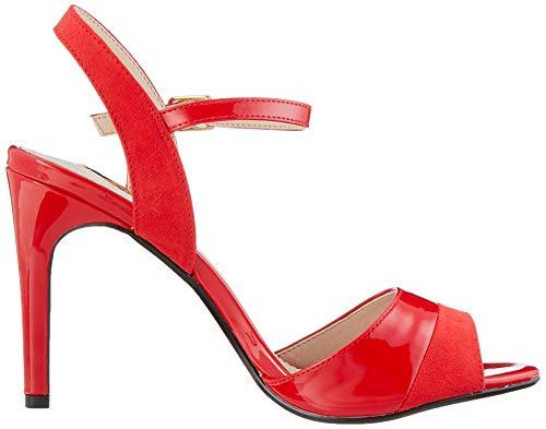 000 Rojo red Pulsera Sandalia Aida Con Buffalo Mujer Para wY80Uqn
