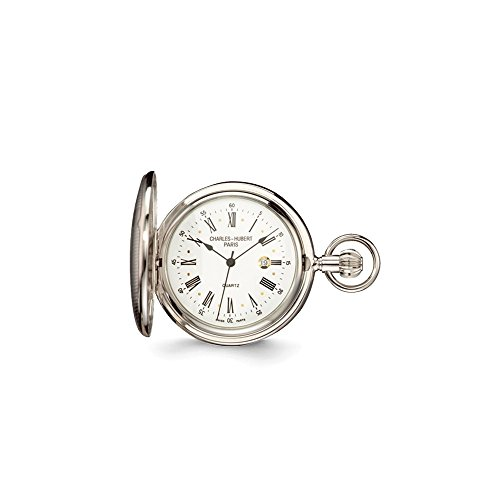 Charles Hubert Chrome Finish Brass Striped Pocket Watch ()