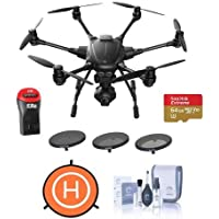 Yuneec Typhoon H Hexacopter with GCO3+ 4K Camera - Bundle With 64GB MicroSDXC U3 Card, Polar Pro 3-Filter Pack, Protective Fast-fold Drone Landing Pad, Cleaning Kit, Card Reader