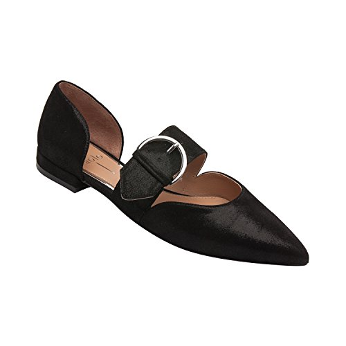 - Dean | Women's Two Piece Pointy Toe Comfortable Leather Or Suede Ballet Flat (New Spring) Black Metallic Suede 6M