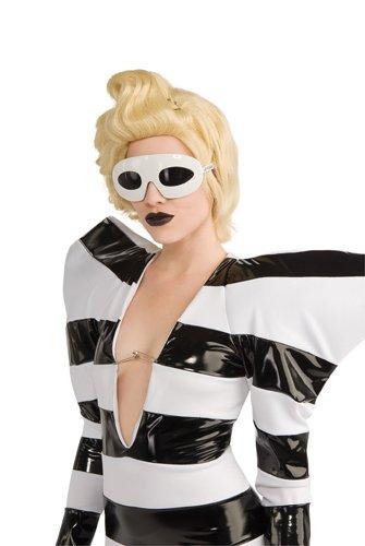 Lady Gaga Glasses,White,One - Halloween Lady On Gaga