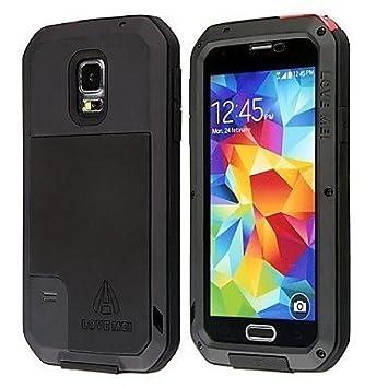 designer fashion d10d5 b1eff Samsung Galaxy S5 Case, Love Mei Gorilla Glass Luxury: Amazon.co.uk ...