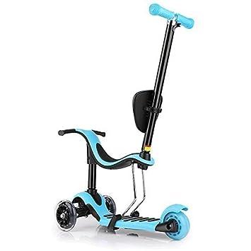Stotoy -Patinete infantil mini de lujo 5 en 1 de 3 ruedas ...