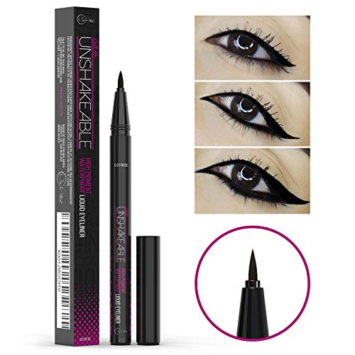 Eyeliner- Best Cruelty Free Waterproof Liquid Eye liner Pen -NON Toxic Formula - ALL DAY WEAR - Gel Felt Tip High Pigment - Winged, Cat Eye, Smudge, Tear Proof Makeup- No Stamp, No Pencil Sharpener (Best Liquid Ink Pen)
