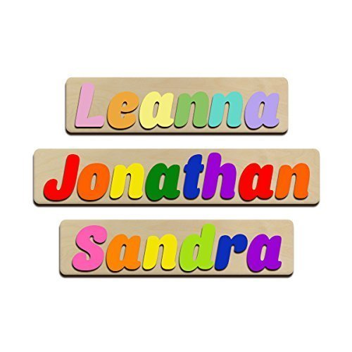amazon com jumbo fonts personalized wooden name puzzles child s