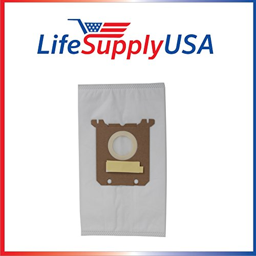 LifeSupplyUSA 5 Pack Vacuum Bags for Nilfisk Kent Advance Euroclean Hip Vac fits 1407015040 140655405
