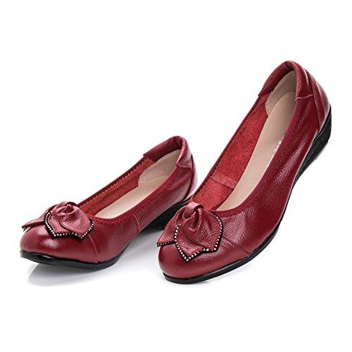 Rouge Été Plat Souple Fond Chaussure pour Femme à Sandales Maman Semelle CHNHIRA P5nq1wU6Rx