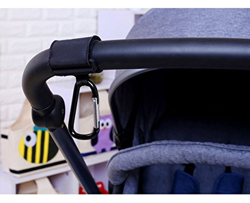 Baby Stroller Pram Safety Belt Wrist Strap Infant Kid Carriage Harness Anti Lost with Stroller Hook- Luxury Velcro Stroller Hooks Prefect for Diaper Bags, Toys, Stroller Accessories, Baby Changing Pad by YHAN (Image #5)